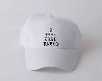 I fell like Pablo hat Embroidery Yeezy Cap Kenye baseball cap Yeezus cap Pablo cap Cool Hip hop cap Tumblr Hats baseball hat mens 011