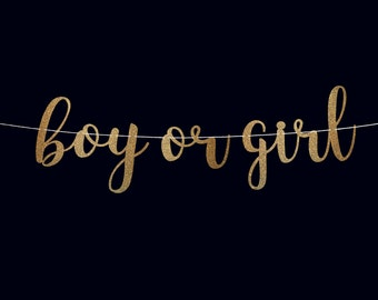 Boy or girl banner gender reveal banner baby shower banner baby shower decorations gender reveal ideas gender reveal decorations