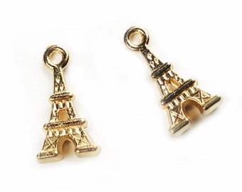 5 pcs Small Eiffel Tower Charm - choose your color