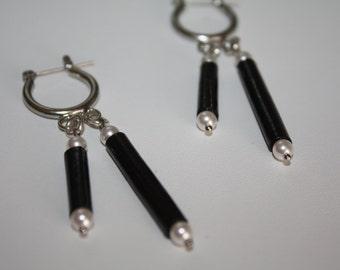 "Paper beads Earring ""unconventional discipline"" Swarovski element #416"