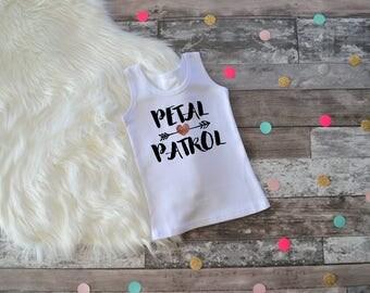 Girls Petal Patrol Shirt, Bridal Party Gift, Flower Girl Gift, Petal Patrol Tank Top, Bridal Party Shirt, Flower Girl Outfit, Flower Girl