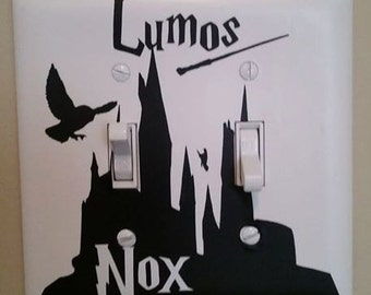 Harry Potter Light Switch Cover Lumos - Nox vinyl decal or wall cover plate