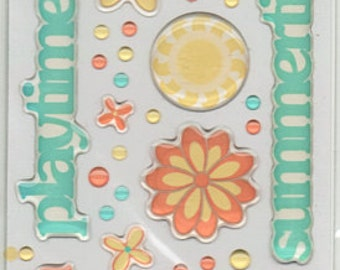 Summer Fun Scrapbook Stickers Cloud 9 Rain Dots Embellishments Cardmaking Crafts
