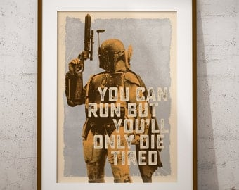 Star Wars - Boba Fett Inspired Print