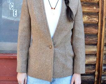 SALE - 1980s Speckled Wool Petite Pendelton Blazer