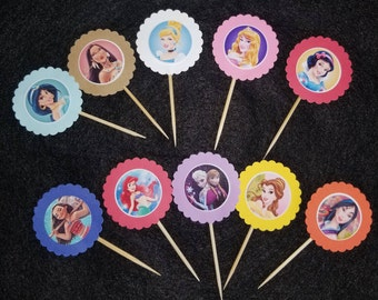 Disney Princess Cupcake Topper