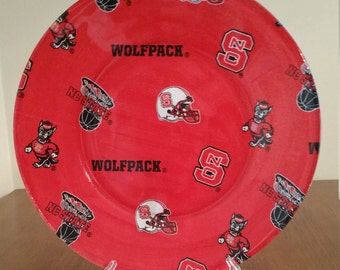 "NC Wolfpack 10"" Round Plate"