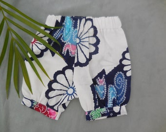 two only - vintage Japanese cotton baby bloomers, size 0-3 months, 3- 6 months