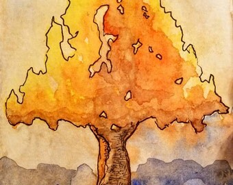 Autumn Fire Tree