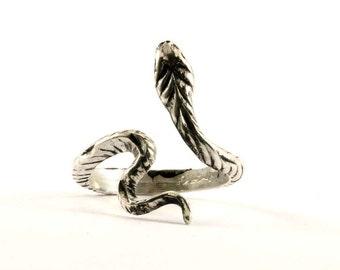 Vintage Snake Spiral Textured Ring 925 Sterling Silver RG 1672-E
