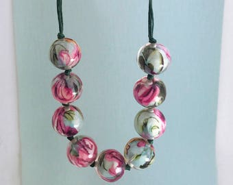 Pastel Chunky Ball Necklace