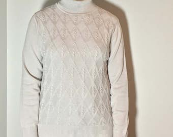 Long Sleeve Grey Turtleneck - Vintage clothing
