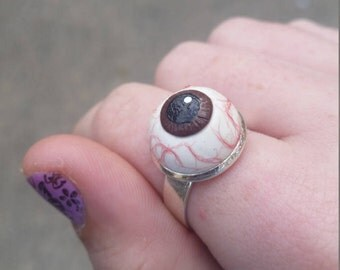 Handsculpted eye ball ring