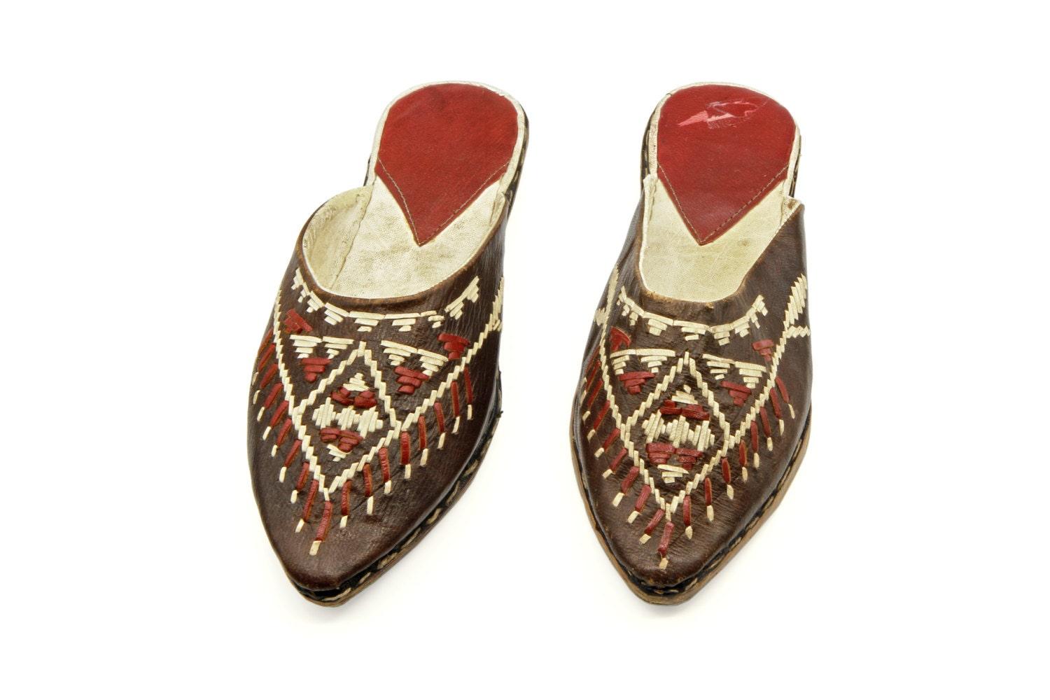 antique moroccan shoes handmade real leather shoes slip on