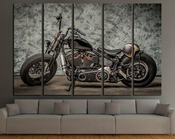 motorcycle wall art etsy. Black Bedroom Furniture Sets. Home Design Ideas