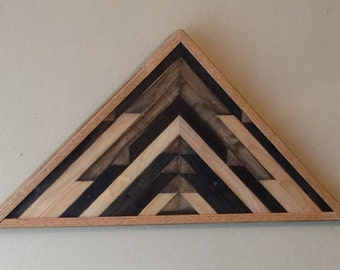 Beechwood Triangle Wall Decor
