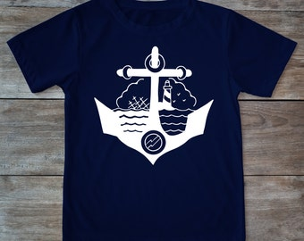 Anchor shirt, tattoo anchor, tattoo shirt, classic tattoo art, old school shirt,hipster gift, gift for tattoo lovers, boat shirt, sea
