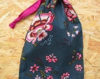 Pochon fleuri - Flowery fabric pouch