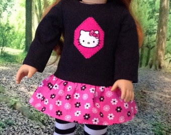 Hello Kitty leggings set for 18 inch doll