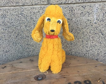 Vintage Stuffed Teddy Dog, Stuffed Animal, Vintage Toy, Vintage Plush, Stuffed Toy, Dog Toy, Plush Dog, Old Stuffed Toy.