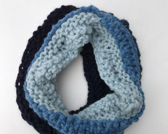 Ombre Infinity Scarf: Oceanside