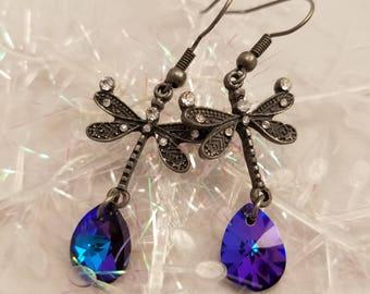 Swarovski Dragonfly Dangle Earrings