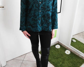 Tailored silk vintage blouse