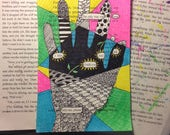 Blackout Poetry -  Little Fool (Dealing with Blue) - Art and a Donation to AHA