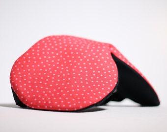 RED DOTS Sleep-Well Eye Mask | Cheerful Cotton Pattern | Recovery Relaxation Handmade Travel Airplane Night Meditation Luxury Gift Women Men
