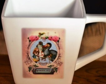 Victorian Tenniel Drawing Tea Party Alice in Wonderland Scence including Alice and the Dodo