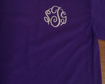 Small Front Monogram Shirts, Mom Shirts, Initial Tees, Add on For shirt, Pocket Design