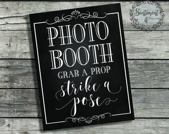 DIY PRINT Chalkboard Wedding Sign 8x10"