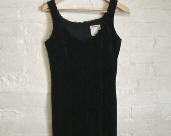 Lace Trimmed Velvet Mini Dress