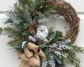Snow Owl Wreath