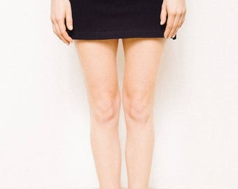 Mini skirt, short skirt, black skirt, elasticized skirt, skirt, basic skirt