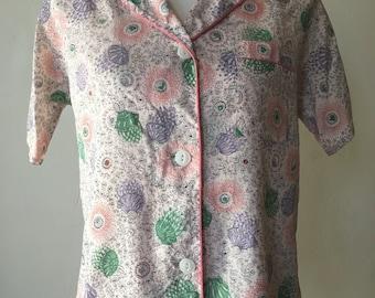 1950s Soft Nylon Pajama Set