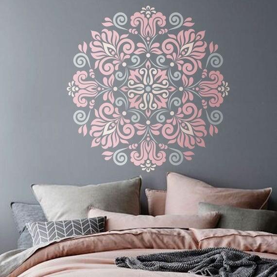Mandala Stencil modello tribale per DIY Wall Decor moderno