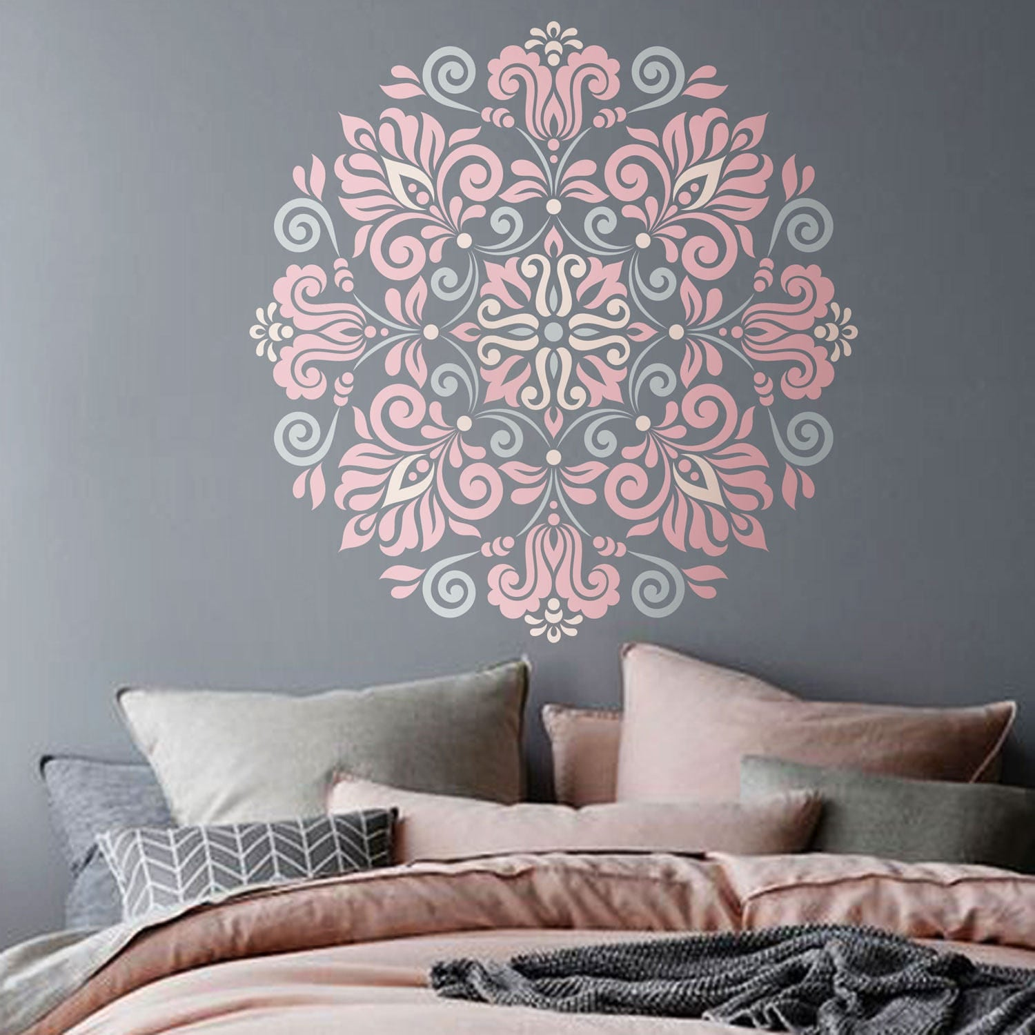Mandala stencil tribal pattern for diy wall decor modern home zoom amipublicfo Images