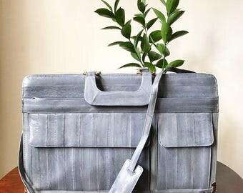 Grey Eelskin Briefcase