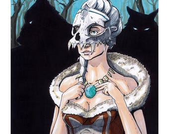 The wolf Priestess