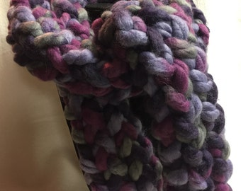 Hand-knitted Chunky Scarf (#015)