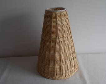 Summer special...............A Conical shaped wicker Lamp shade.