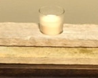Barn wood candle centerpiece