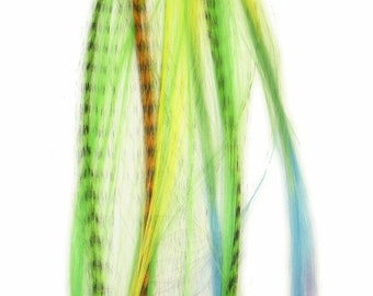 Prebonded I-Tip Extensions/Synthetic Hair Feathers, Fruit Salad