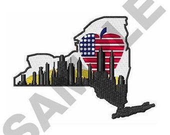 New York State - Machine Embroidery Design