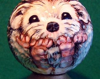 Baby Hedgehog Hand-painted Golf Ball