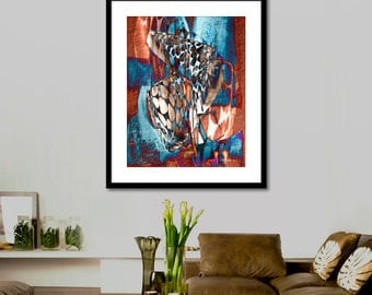 Printable abstract picture Art Modern Painting, Watercolor Wall Art Print, Modern Art Wall Decor, INSTANT DOWNLOAD.