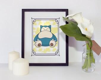 Pokémon Snorlax Print