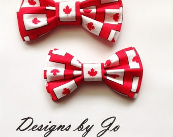 Bow Tie,Dad and Son Bow Ties, Canadiana Bow Ties, Father Son Bow Tie, Mens Bow Tie, Canada Bow Tie, Mens Bowtie, Bow Tie, Boys Bow Tie DS679