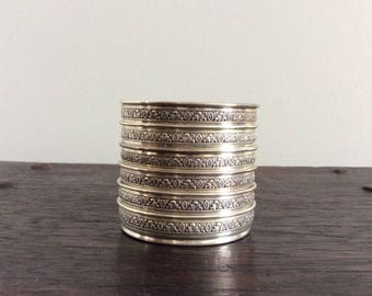 6 Sterling Silver Coasters / Wine / /Barware / Drinkware / Unique / Retro